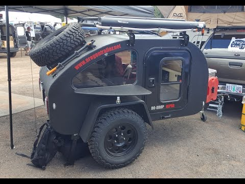 """mini"" Off Road Tear Drop Trailer By Oregon Trail'R :Overland Expo 2017"