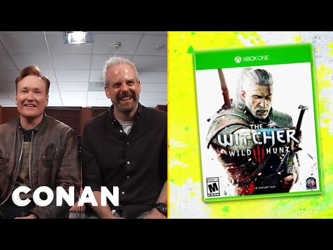 "Clueless Gamer: Conan Reviews ""The Witcher 3: Wild Hunt""  - CONAN on TBS (видео)"