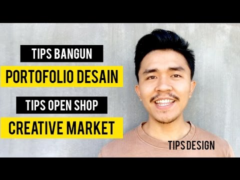 Video Tips Membangun Portofolio Desain + Tips Open Shop di CreativeMarket