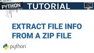 Extract File Info From a Zip File in Python | Python Tutorial