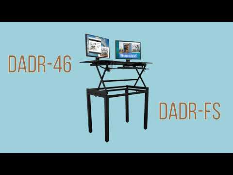 Rocelco DADR-46 – Sit Stand Desk Riser