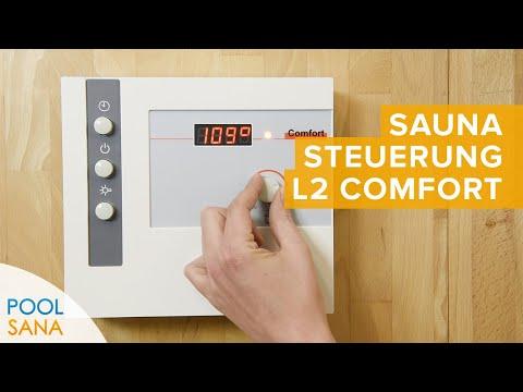 Saunasteuerung L2 Comfort bedienen | POOLSANA