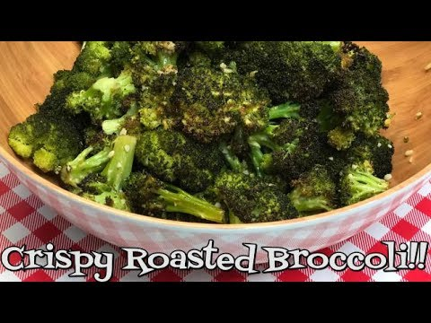 Crispy Roasted Broccoli~Crispy Broccoli Recipe~Fresh Vegetable Side Dish~Tasty Side Dish~Noreen