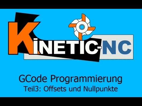 KinetiC-NC Frässoftware - G-Code Programmierung: Offsets und Nullpunkte