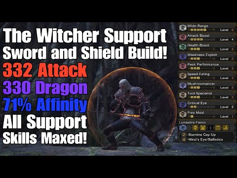 Mhw The Witcher Support Sns Build All Support Skills Maxed