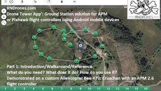 Drone Tower Ground Station App':  Part 1 Intro'/Walkaround/Manual