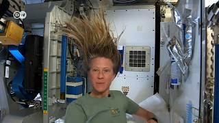 Como os astronautas lavam seus cabelos?