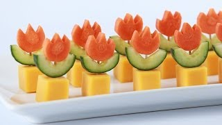 SUPER MARIO FIRE FLOWER APPETIZERS - NERDY NUMMIES