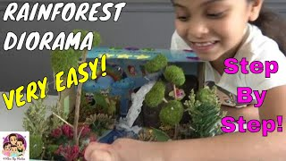 How To Make A Diorama Rainforest In A Shoebox (#schoolproject) School Science Project Ideas Simple