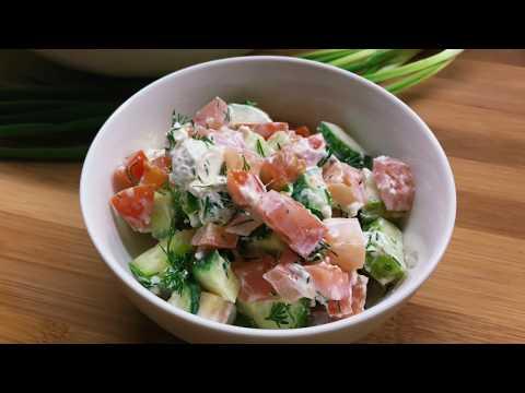 Простой салат с сыром фета
