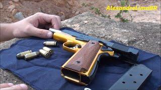 Pistola Imbel 1911 Dourada - Comemorativa 75 anos