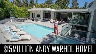 ANDY WARHOL THEMED $15MILLION BEVERLY HILLS MANSION!