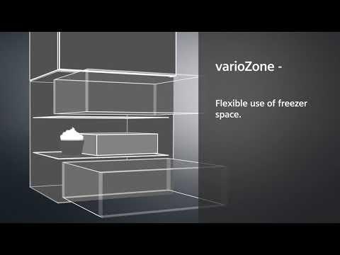Siemens Freestanding American Style Refrigeration KA93NVIFP - Stainless Steel Doors Video 2