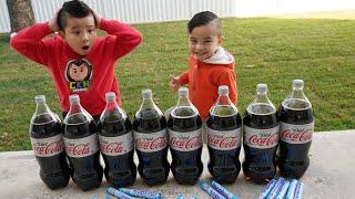 Coca Cola and Mentos Kids  Experiment Fun CKN