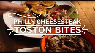 Philly Cheesesteak Tostón Bites- Hispanic Kitchen