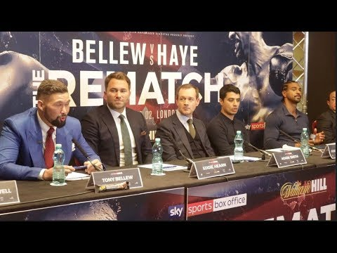 TONY BELLEW v DAVID HAYE - OFFICIAL PRESS CONFERENCE (FULL & COMPLETE) / THE REMATCH  / BELEW v HAYE