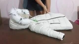 Детская зимняя куртка пуховик для девочки - видео 1