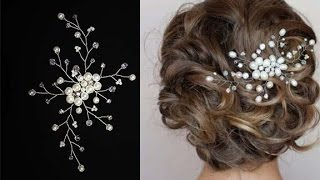 Tutorial Hair Piece Pearl Hair Pin Hair Comb Accessory Hair Vine