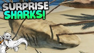 "Stranded Deep Gameplay - ""SURPRISE SHARK ATTACKS!!!""  - Let"