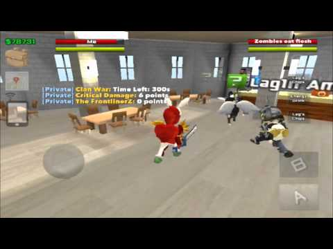 School of Chaos MMORPG: Critical Damage vs The FrontlinerZ (Clan War)