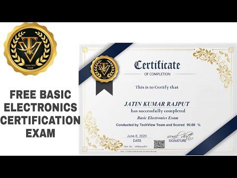 Electronics Certificate | Basic Electronics Free Certification Exam ...