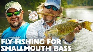 FLY FISHING for Smallmouth Bass (Streamers + Poppers)