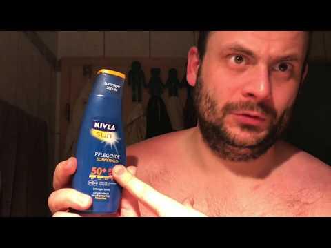 Sonnenbrand behandeln mit Nivea Sun pflegende Sonnenmilch 50+ sehr hoch Hautpflege Anleitung