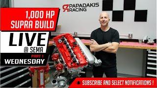 1,000 HP Supra build | Live @ Sema | Wednesday