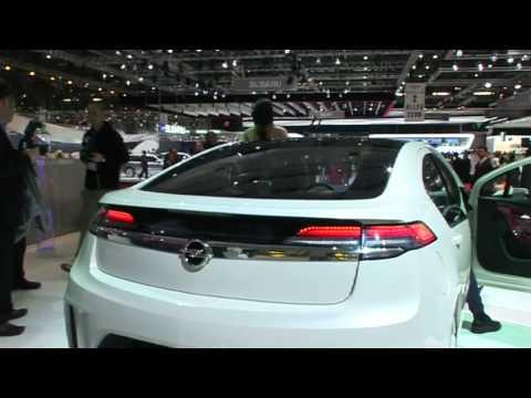 Vauxhall Ampera at the Geneva Motor Show