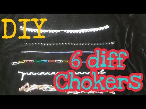 DIY Trendy chokers with simple materials