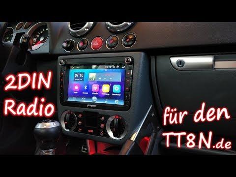 TT8N Doppel DIN umbau Androidradio Einbaurahmen mit Pumpkin Multimedia Station