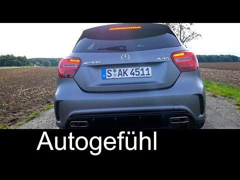 Mercedes A-Class AMG A45 Sound + 0-100 km/h Race Start Launch Control & A250 Sport A-Klasse