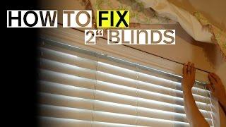 "2"" Blinds Won't Tilt Open or Close? Here's a Fix."