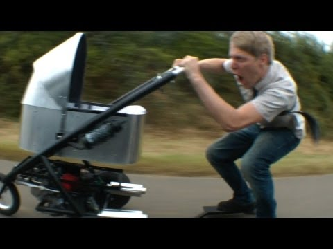 The World's Fastest Baby Stroller Can Go 80km/h Of Awesome Parenting