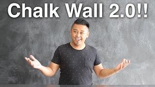 New Chalk Wall!!
