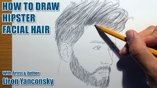 How To Draw Hipster Facial Hair!