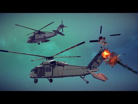 We've got a Black Hawk Down!   Besiege