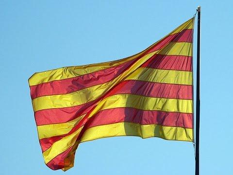Anthem of Catalonia, Concurs de Castells 2016, Tarragona, Catalonia, Spain, Europe