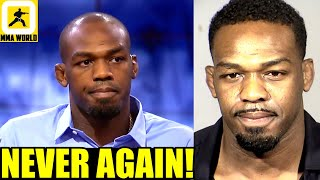 Jon Jones just reacted to getting arrested for allegedly head-butting a cops car & domestic violence