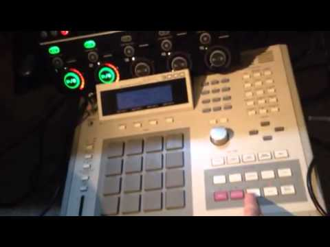 Boss RC505 slaved to Akai MPC3000 via Midi Sync