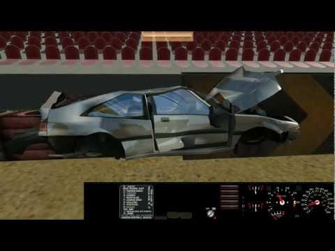 300Km/h Car Crash Test Crazy! Honda (Rigs Of Rods) 1080p