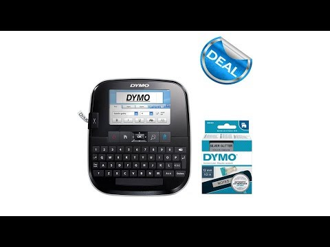 Aparat de etichetat Touch Screen DYMO LabelManager 500TS si 1 caseta etichete profesionale, 12 mmx3m, negru/argintiu, 2084401 S0946420 S0946450