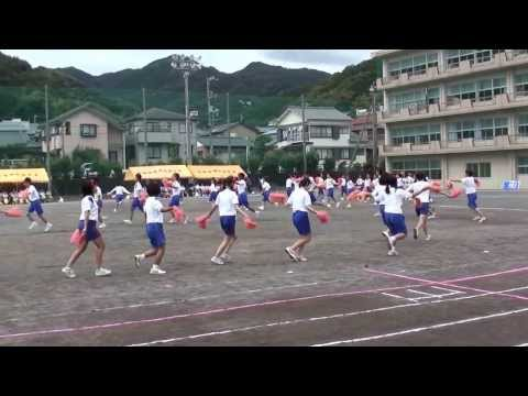 宇佐美中学校運動会 2013年 応援合戦 赤軍