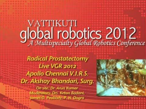 Radical Prostatectomy Live VGR 2012 Apollo Chennai V.I.R.S