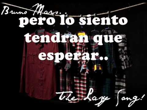 Bruno Mars - The lazy song [subtitulada en español]