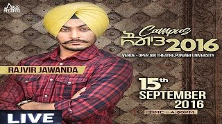 Live - Punjabi University (Patiala) | Rajvir Jawanda | Latest Punjabi Songs 2016 | Jass records