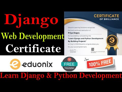 Python With Django Web Development Free Course With Certificate ...