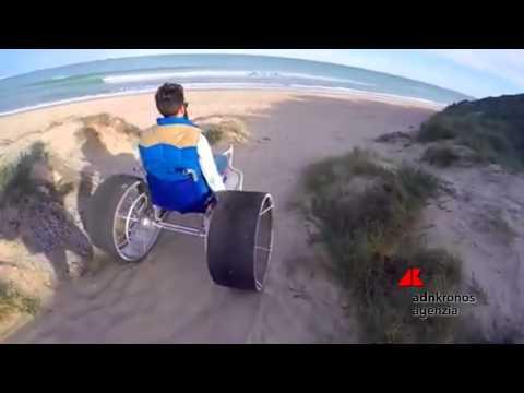 La sedia a rotella da spiaggia...
