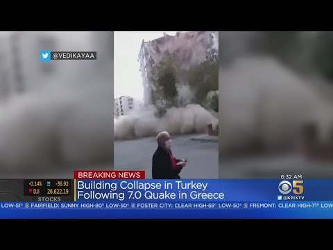 7.0 Earthquake In Aegean Sea Shakes Turkey, Greece; Buildings Toppled