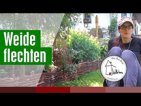 Weide flechten - Weidenzaun mit Kettensäge und so